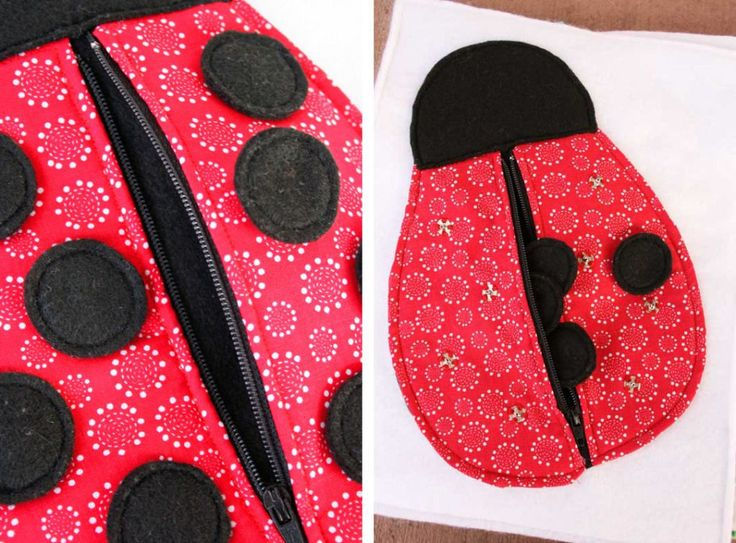 Janne & Krista (2 of 2): Ladybug Zipper (Link to template if needed)