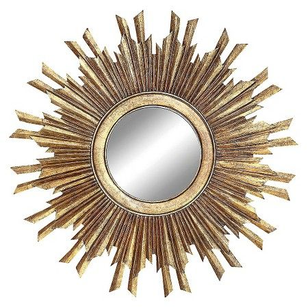 Add A Touch Of Whimsicality To The Interiors Your Living Room With Creative Co Op Chateau Round Sunburst Mirror