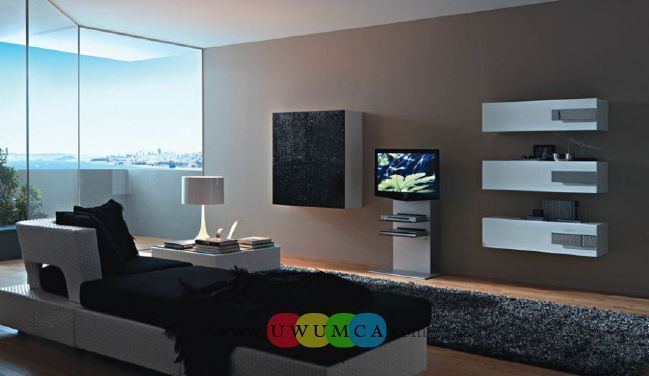 Living Room:Decorating Brazilian Living Room And Lighting With Sofa Furniture Coffee Table Chairs Rug Design For Small Spaces TV Wall Units In Black And White Colors Luxury Living Room Decor of an Art Collector by Gisele Taranto
