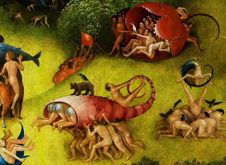 The garden of earthly delights detail hieronymus bosch - Hieronymus bosch garden of earthly delights ...