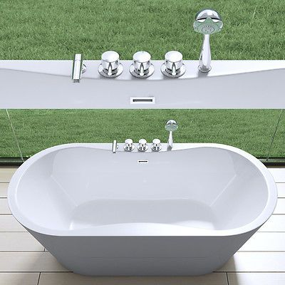 Design Badewanne Freistehende Wanne Stundbadewanne Armatur 180 x 80 Vicenza 602 | Badewannen | Bad & Küche - Zeppy.io