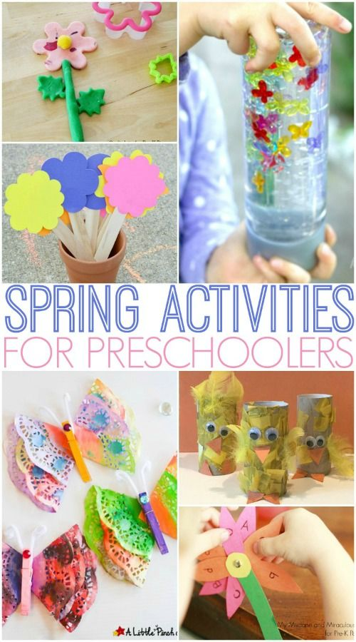 Spring Activities for Preschoolers! A pretty and fun roundup for preschoolers this spring!