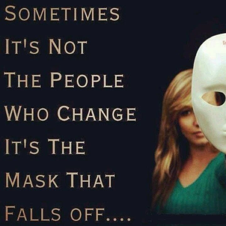 Take off the mask before you decide to hurt people