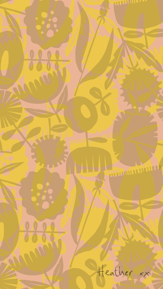 Get flowers for your phone or desktop with the free download from the collaboration between Heather Moore and Mr Price Home.