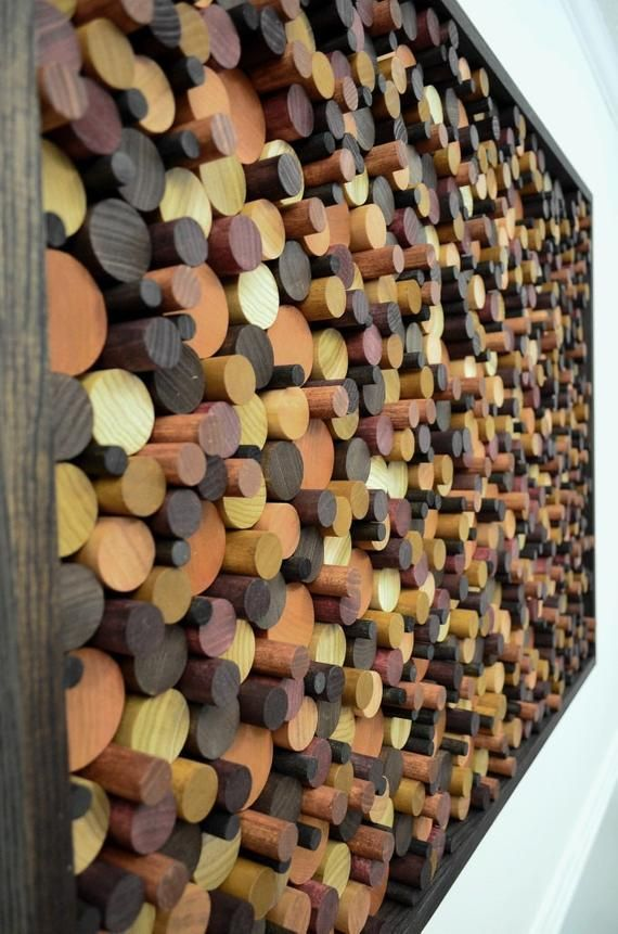 wood wall art – large WOODEN CIRCLES 40×28 – woode…