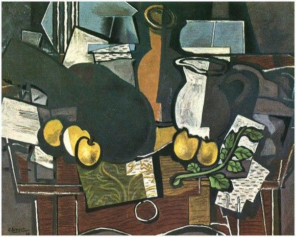 Гитара, фрукты и кувшин - Жорж Брак