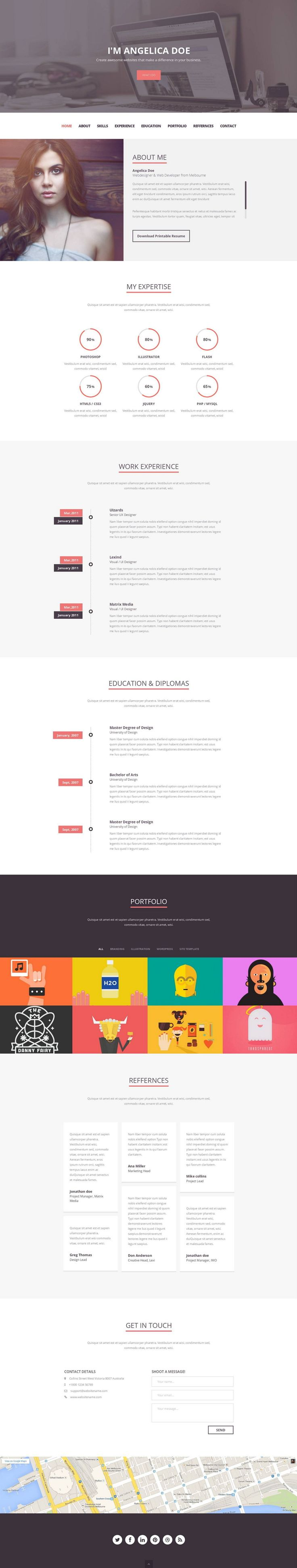 folix is a clean modern flat professional multipurpose online resume
