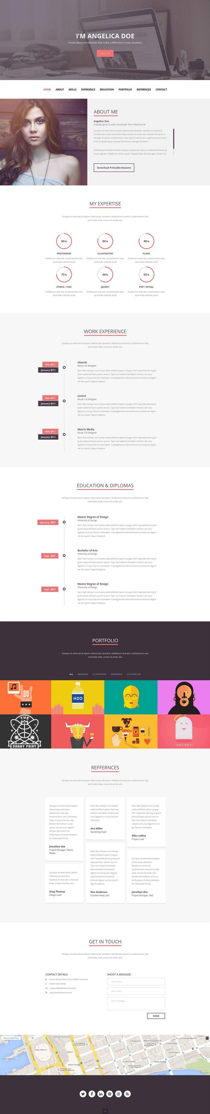 25 unique online resume template ideas on pinterest online cv