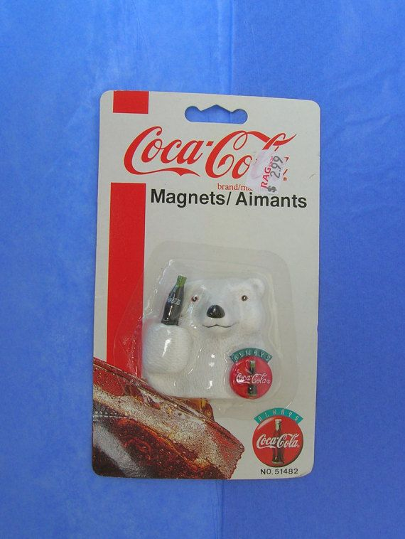 Coca Cola Polar Bear Magnet 1995 Always by SerendipitysEmporium