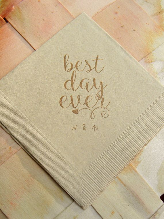 best Personalized Napkins   Wedding Napkins   Cocktail Party