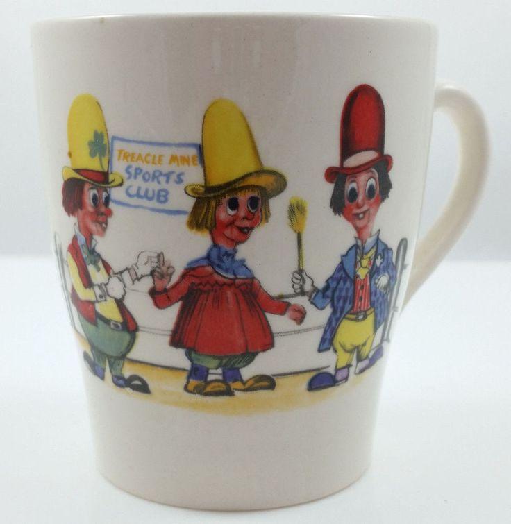 Staffordshire Pottery Ken Dodd's Diddymen Small Coffee Mug 1970 Made in England #StaffordshirePottery