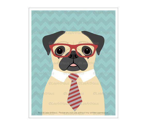 Wall Decor Pug Printable Pug Prints Pug Sign Pug Dog Art Pug Dog