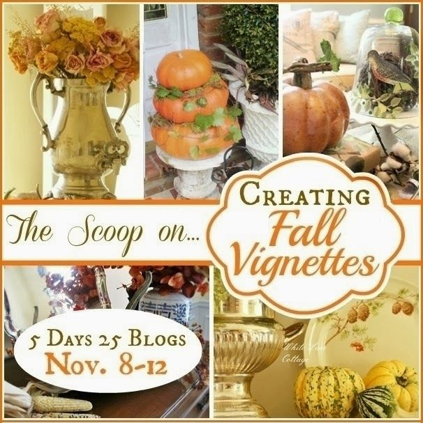Learn how to create a simple, but very elegant fall vignette in a few easy steps!.25 different bloggers will teach you all they know about the art of vignettes! :)