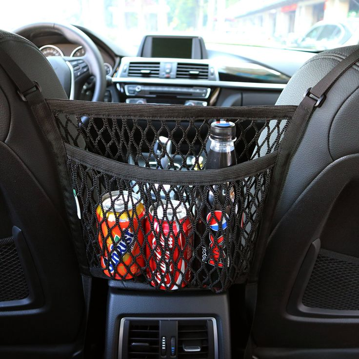 AMEIQ 2Layer Car Mesh Organizer, Seat Back Net Bag