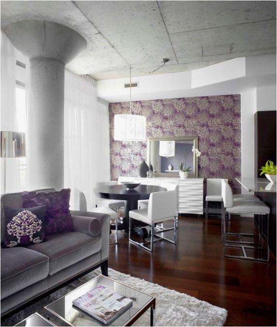 Decorating Withu2026 Purple! Living Room GreyModern ...