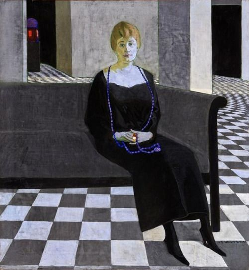 Felice Casorati ~ Ritratto di Teresa Madinelli, c. 1918-19. Tempera on canvas, 160 x 140 cm.