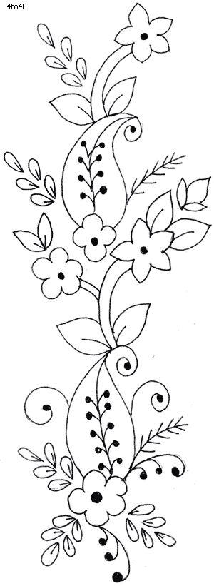 dibujo cenefa de flores                                                                                                                                                                                 Más