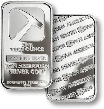 Pan American Silver--Two 1-Ounce bars