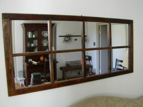 Large wall mirror, from an old french door....maybe for our living room/dining room wall?