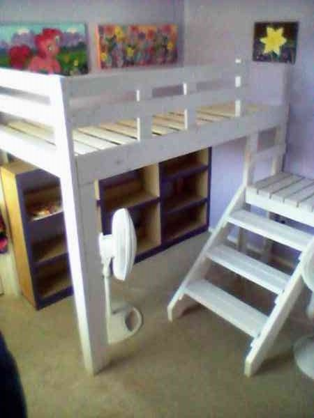 loft bed with side stairs. | Do It Yourself Home Projects from Ana White