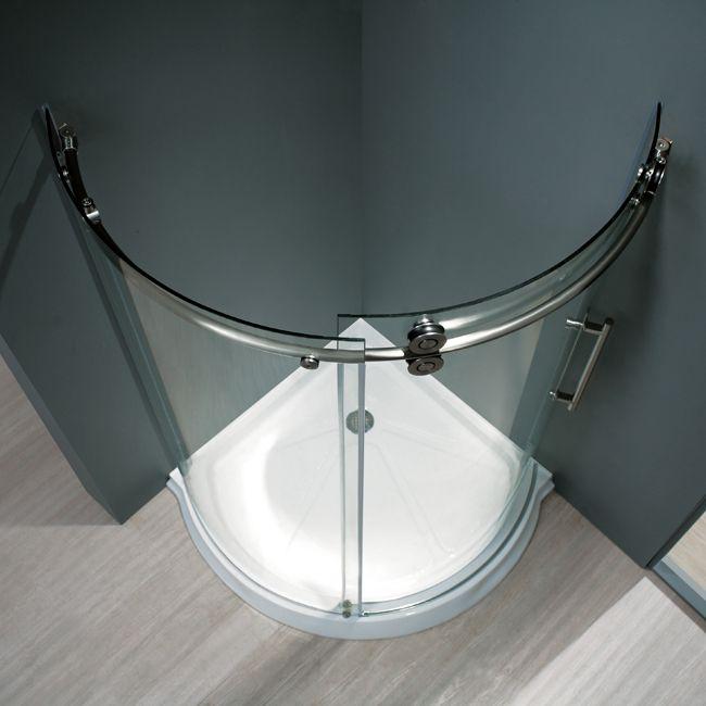 36 x 36 round shower enclosure vigo colorfinish steel model