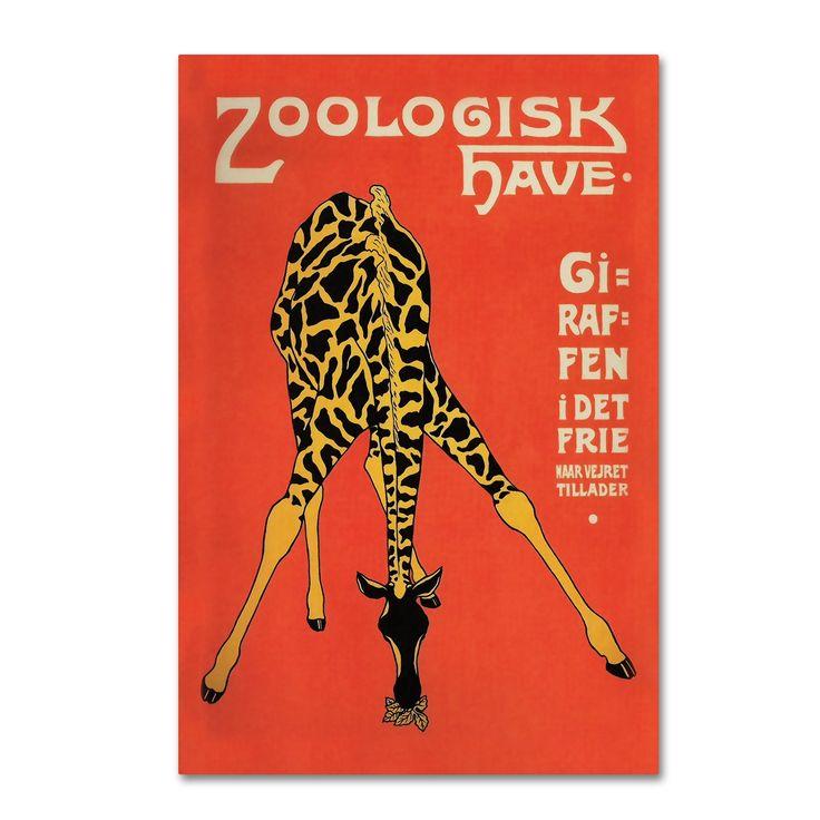 Vintage Lavoie 'Copenhagen Zoo' Canvas Art