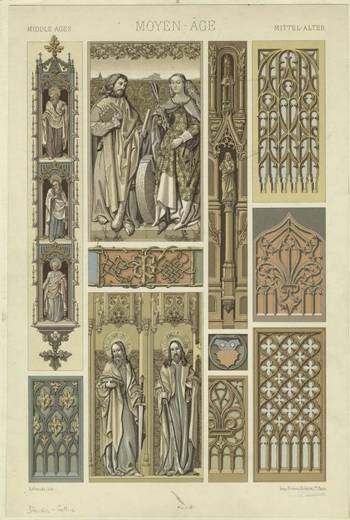 Средневековое искусство и готический орнамент Средневековое искусство и готикический орнамент #42