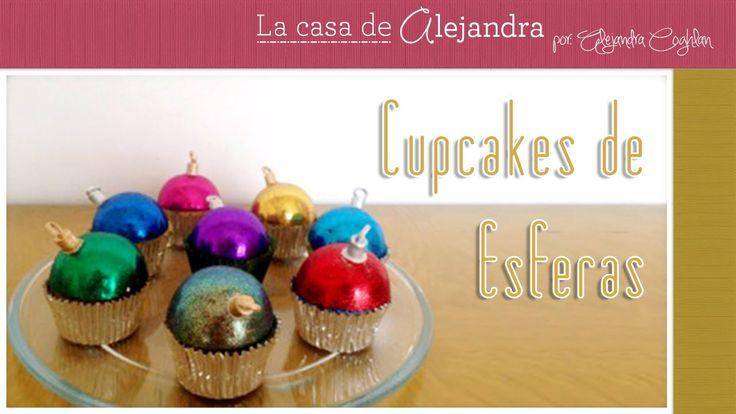 Cupcakes de Esferas de Navidad DIY Alejandra Coghlan