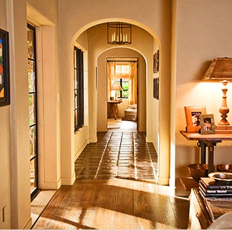 Hallway from It's Complicated.: Decor, It Complicated House, Hallways, Floors, Arches, Dreams House, Movies House, Its Complicated House, Design