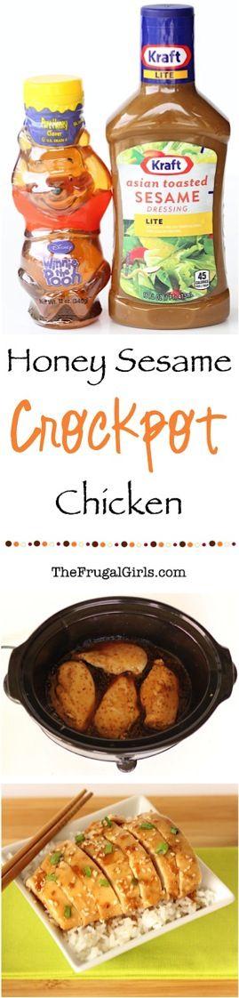 101 Easy Winter Crockpot Recipes!   Crock Pot Recipes, Chicken Recipes, Honey Sesame Recipes