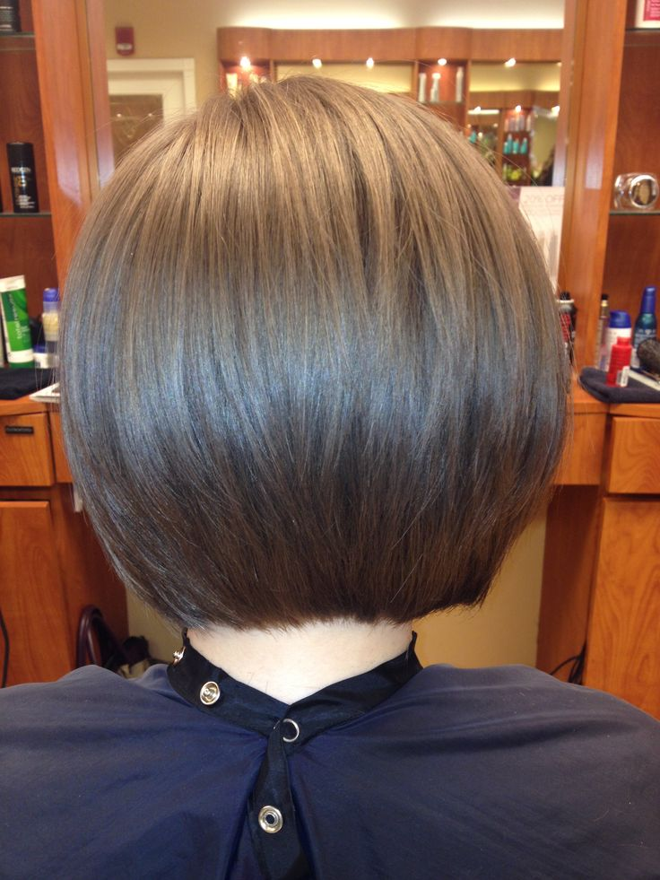 bob with blended layers beauty
