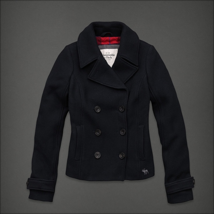 Abercrombie Accessories Abercrombie Accessories Abercrombie Womens Abercrombie Couple Abercrombie Womens: Abercrombie Fitch Womens Wool Jacket Coat Outwear Peacoat