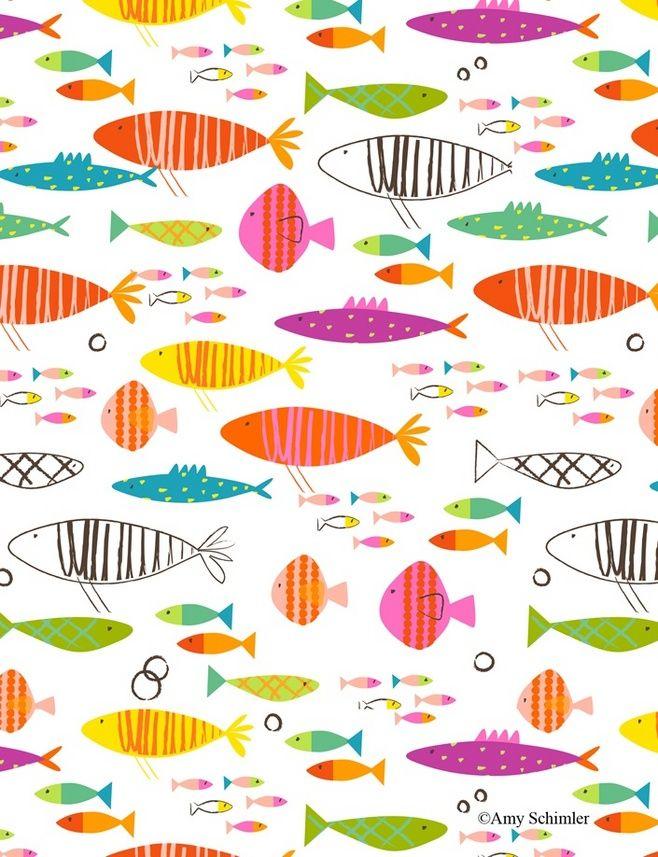 Rainbow Fish pattern...@文艺犯2青年采集到【Paint】Background pattern(997图)_花瓣插画/漫画
