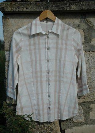 À vendre sur #vintedfrance ! http://www.vinted.fr/mode-femmes/blouses-and-chemises/28597818-la-chemise-emblematique-burberry-beige-36-st1