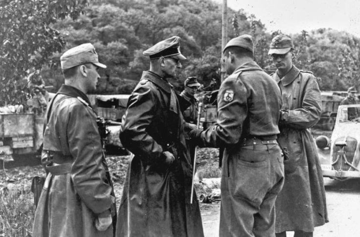 German General Otto Fretter Pico Commander of the 148th Infantry surrendering to Brazilian FEB General Zenobio da Costa. Italy 1945. [1136 x 640]