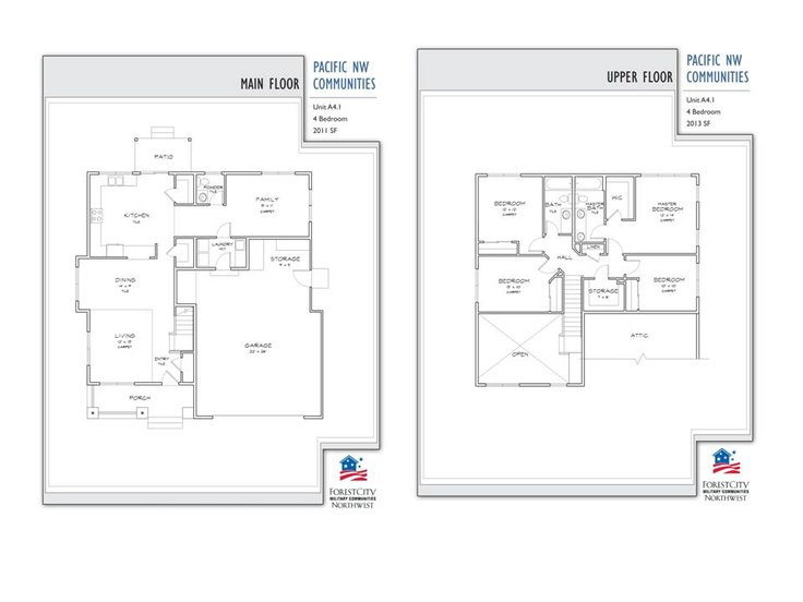 Nas whidbey island oriole street neighborhood 4 bedroom for Whidbey house plan