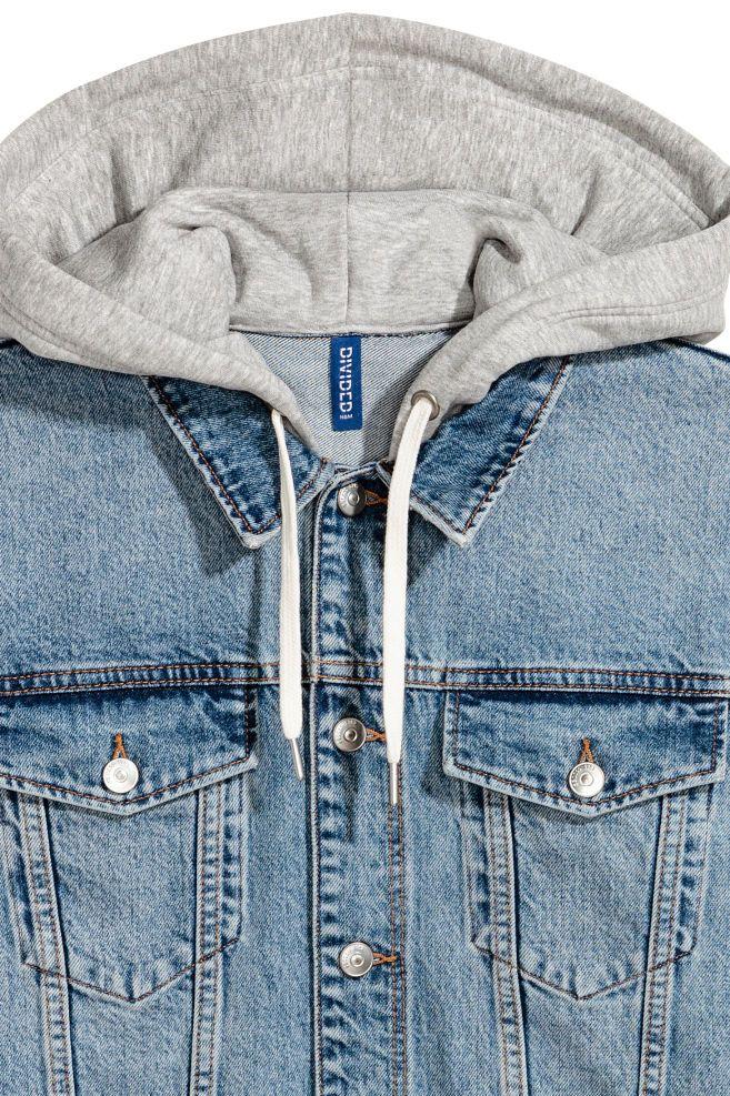 865c701df6b3 Hooded Denim Jacket - Denim blue gray - Men