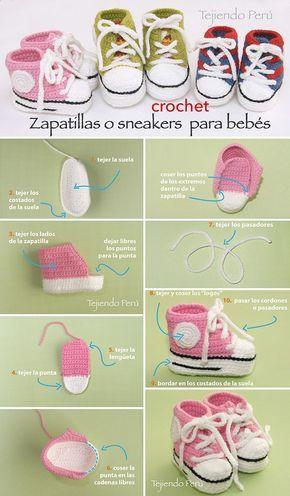 "Sneakers o zapatillas para bebés tejidas a crochet! Paso a paso con video tutorial :) [ ""Sneakers o zapatillas para bebés tejidas za crochet! Paso a paso con video tutorial :)"", ""Amazing weaved sneakers for kids!"", ""Sneakers, the pictures are pretty clear, not in English"" ] # # #Crochet #Shoes, # #Crochet #Slippers, # #Baby #Booties, # #Baby #Shoes, # #Crochet #Baby, # #Kids #Crochet, # #Video #Tutorials, # #Amigurumi, # #Kapcie"