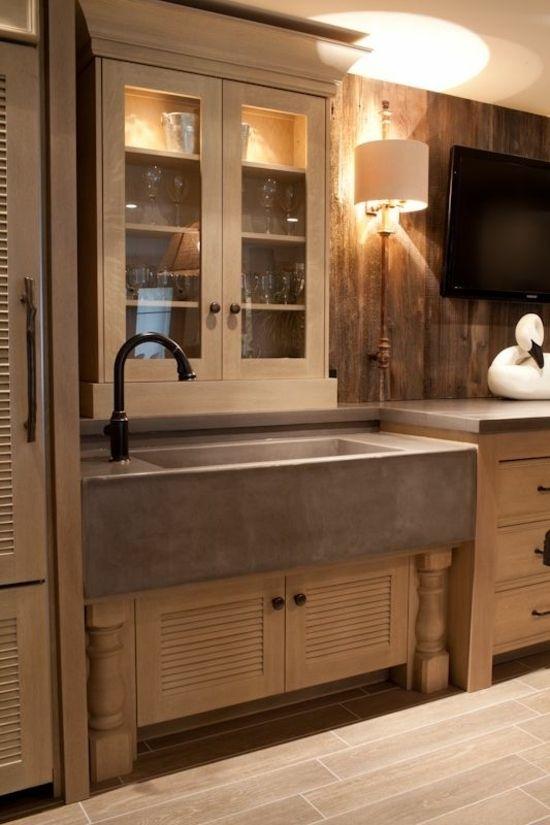 Yli tuhat ideaa Küchenspüle Mit Unterschrank Pinterestissä - küche aus holz