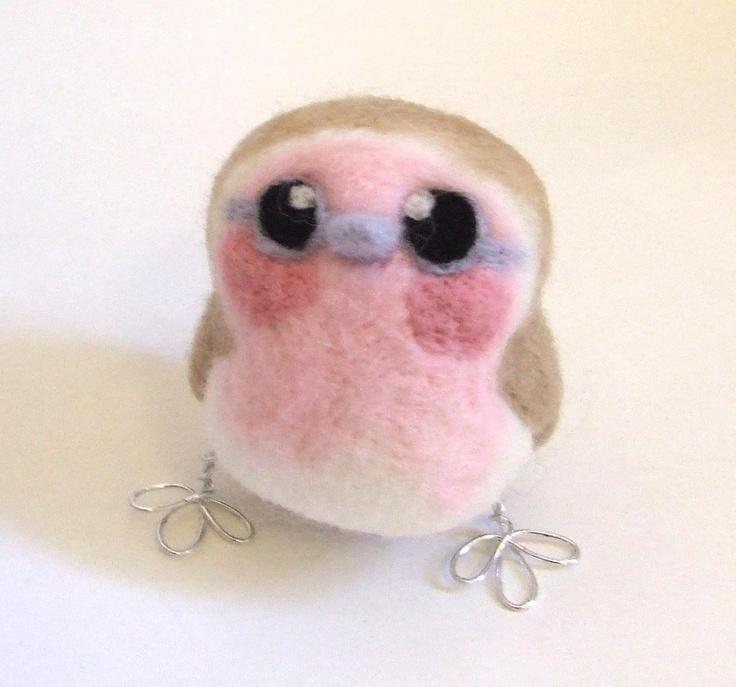 Pink Robin Girl Bird, via Etsy.