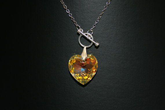 Handmade 'Charmed' Swarovski Heart Pendant by LHadyoonJewellery, £30.00