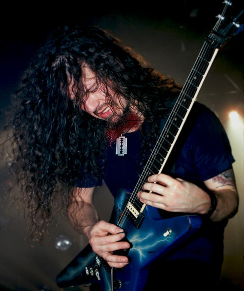 """Dime"", A.K.A. ""Dimebag Darrell""; Pictured Here, Playing His Trusty Dean ""Lightning"" Model, Which He Used On A REGULAR Basis, UNTIL It Was STOLEN; Then He Went To Washburn, And They, As He Put It: ""Made The Guitar Of My Dreams!""..... ;)"