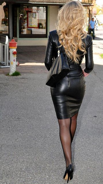 I would like to meet this woman. I mean, you wear a leather dress, I'm interested.