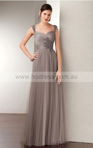 Zipper Floor-length Natural A-line Tulle Formal Dresses aiga307031--Hodress