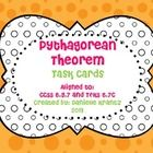 Pythagorean Theorem Task Cards (16 task cards) Common COre 8.G