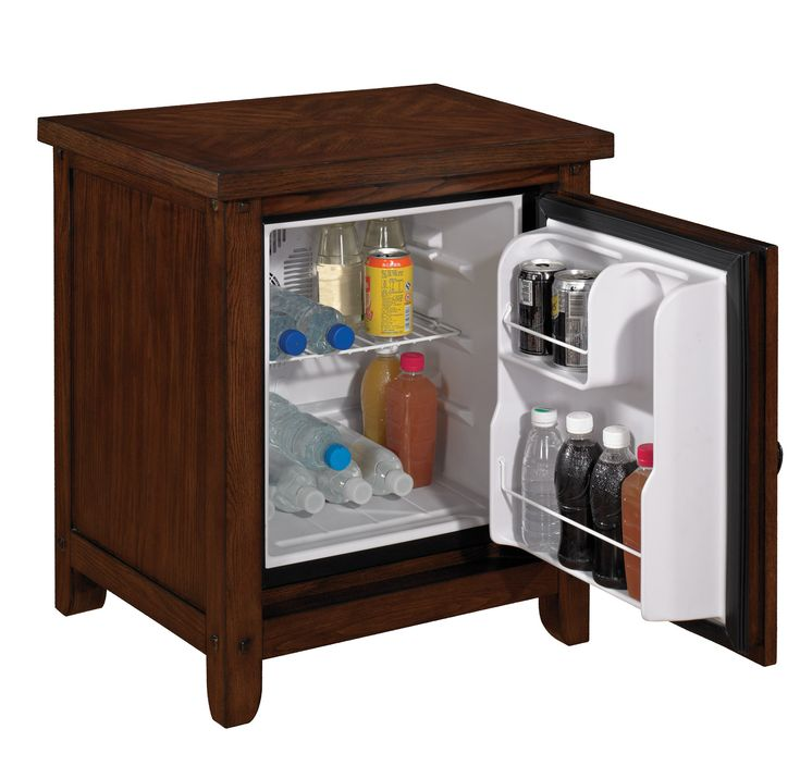 Hide that bulky dorm fridge in your home or office with this beautiful Twin Star fridge cabinet! TheHome.com #hpmkt