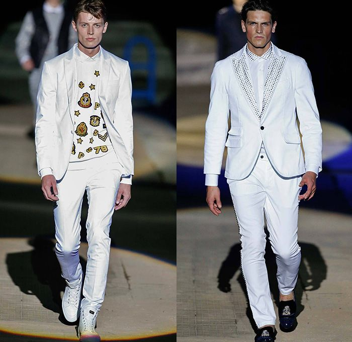Philipp Plein 2015 Spring Summer Mens Runway Looks - Milano Moda Uomo Collezione...