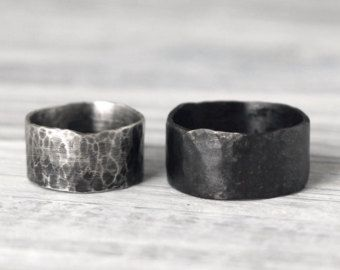 His & Hers Promise Rings Couple Ring Set by palefishny on Etsy