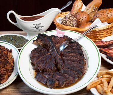 Best Steakhouses in the U.S.: Peter Luger under Brooklyn's Williamsburg Bridge in New York