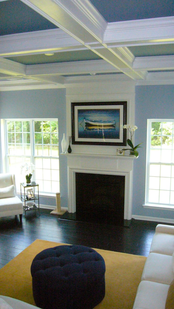 Beautiful Tri Color Coffered Ceiling This Looks Perfect For A Formal Living Room